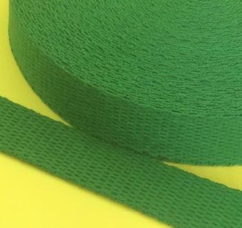 Alça de Algodão Verde Bandeira 3cm