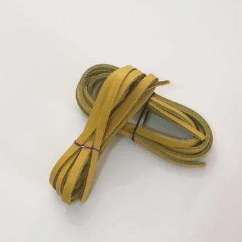Tira de Couro Amarela 0,4mm