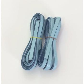 Tira de Couro Azul Claro 0,4mm