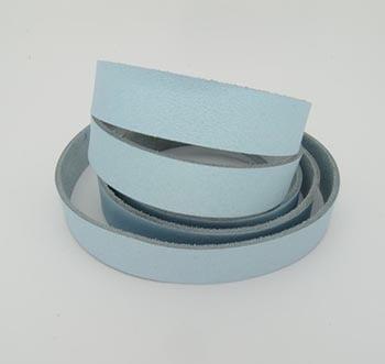 Tira de Couro Azul Claro 1,5cm