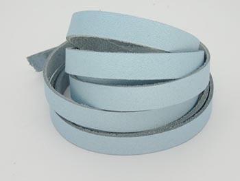 Tira de Couro Azul Claro 1cm
