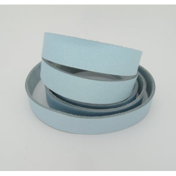 Tira de Couro Azul Claro 2cm