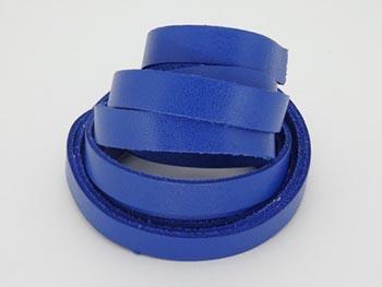 Tira de Couro Azul Royal 1cm