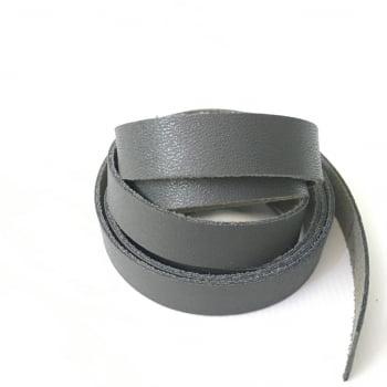 Tira de Couro Cinza 1,5cm