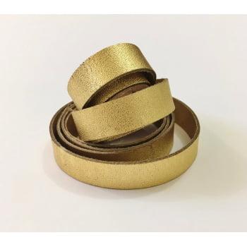 Tira de Couro Dourado 1,5cm