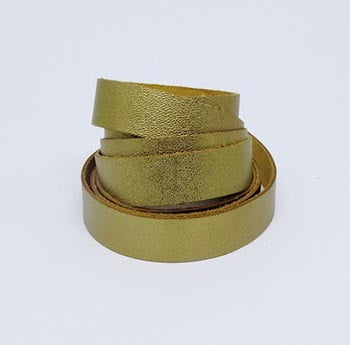 Tira de Couro Dourado 2cm