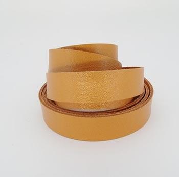 Tira de Couro Laranja 1,5cm