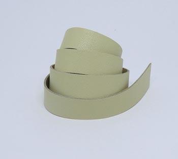 Tira de Couro Marfim 2cm