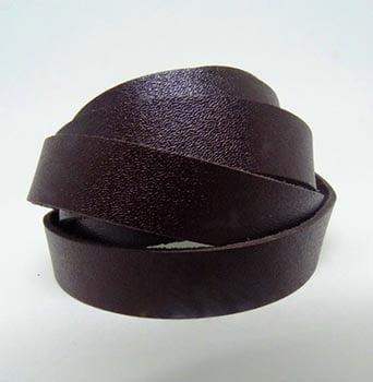 Tira de Couro Marrom Café 1,5cm