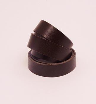 Tira de Couro Marrom Café 2cm
