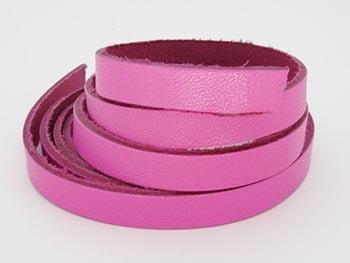 Tira de Couro Pink 1cm