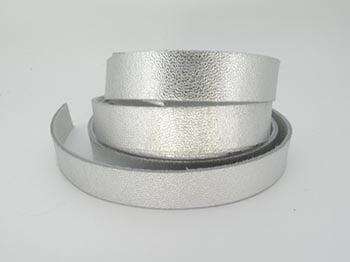 Tira de Couro Prata 1,5cm