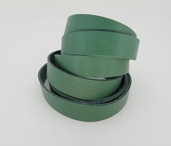 Tira de Couro Verde 1,5cm