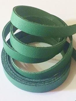 Tira de Couro Verde 1cm