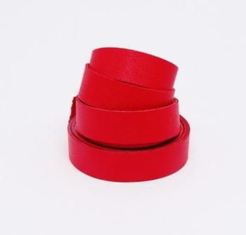 Tira de Couro Vermelho 2cm