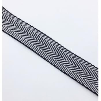 Alça de Nylon Branco/Preto 3cm