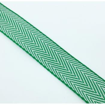 Alça de Nylon Branco/Verde 3cm