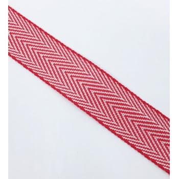 Alça de Nylon Branco/Vermelho 3cm