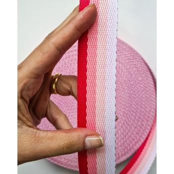 Alça Fashion Tons Rosa 3cm
