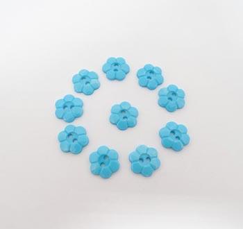 Botão Margarida Azul BB (Pacote com 10)