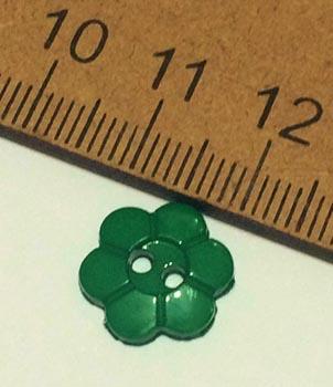 Botão Margarida Verde Escuro (Pacote com 10)