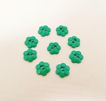 Botão Margarida Verde (Pacote com 10)