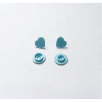 Botão de Pressão Ritas nº 10 Coração Azul Alfazema (Pacote com 50 peças)