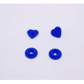 Botão de Pressão Ritas nº 10 Coração Azul Royal (Pacote com 50 peças)