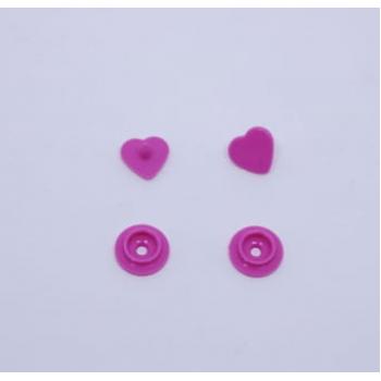Botão de Pressão Ritas nº 10 Coração Pink (Pacote com 50 peças)