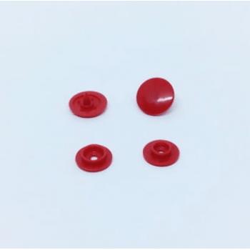Botão de Pressão Ritas nº 12 Vermelho (Pacote com 50 peças)