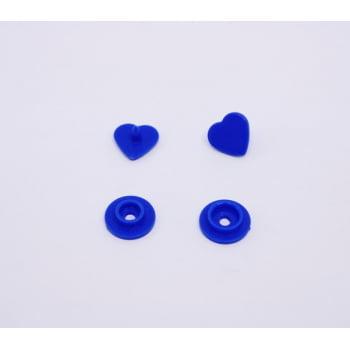 Botão de Pressão Ritas nº 10 Coração Azul Royal (Pacote com 10 peças)