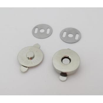Botão Imantado 18mm Niquelado (Pcte com 5)