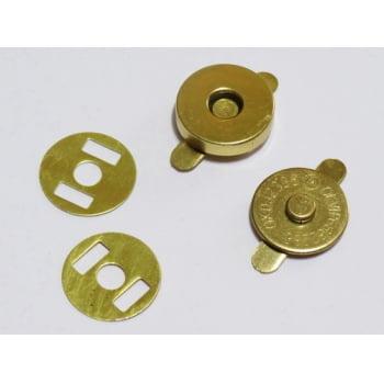 Botão Imantado 14mm Dourado (Pcte com 5)