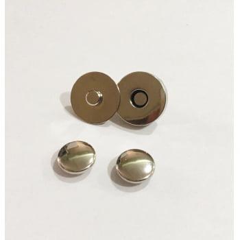 Botão Imantado 18mm com Rebite Duplo Niquelado