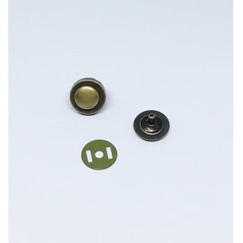 Botão Imantado 18mm com Rebite Ouro Velho