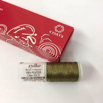 Linha Sylko para Bordado a Máquina e Quilting Cor 7221 Bronze 170m