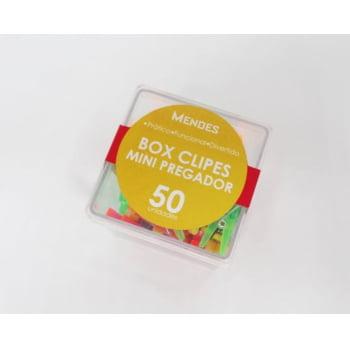 Box Clipes Mini Pregador Laranja Misto