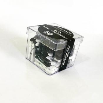Box Clipes Mini Pregador Preto Fosco