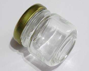 Potinho de Vidro Redondo Liso 40ml