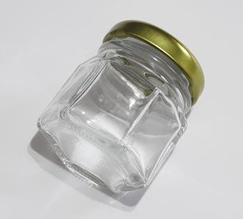 Potinho de Vidro Sextavado 40ml
