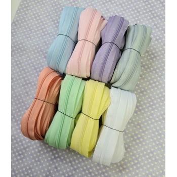 Kit de Ziper Fino nº3 Candy Color - 40 metros - 8 cores