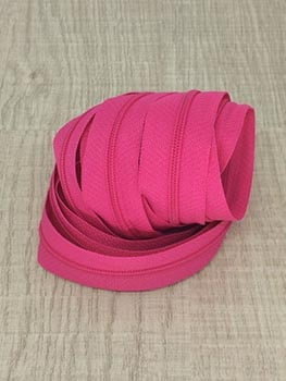 Ziper de Metro nº3 Fino Rosa Pink