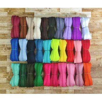 Super Kit de Zíper Grosso nº5 Colorido - 90 mts - 30 cores