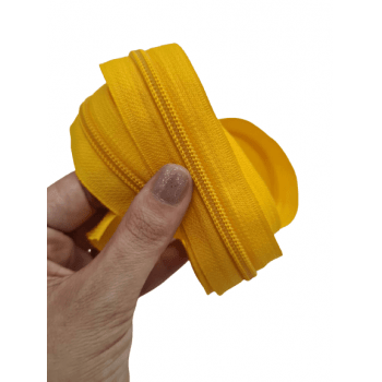Ziper de Metro nº5 Grosso Amarelo Ouro