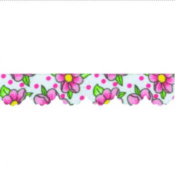 Mini Lasynha Est. Chita Branco com Pink cor 974