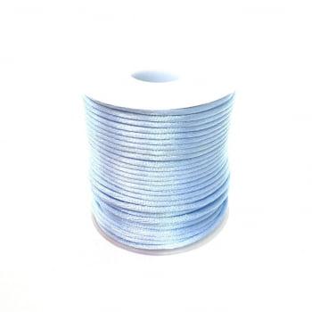 Cordão de Poliéster Acetinado Azul Claro (Pacote com 5 metros)
