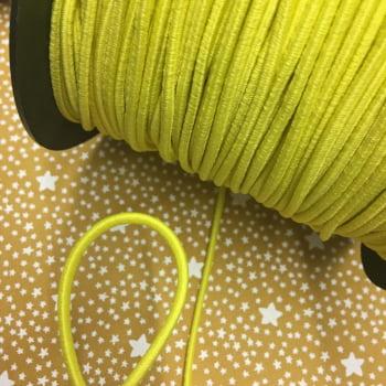 Elástico Roliço Amarelo Canário 3mm