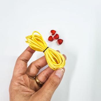 Kit de Cordão Amarelo + Entremeio Coração