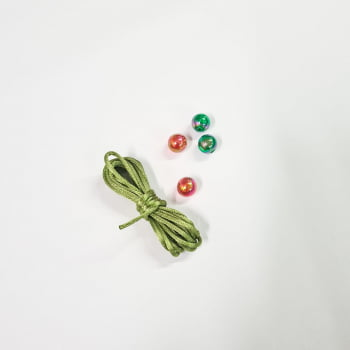 Kit de Cordão Oliva + Bola Lisa Boreal