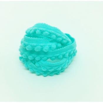 Mini Pompom Azul Turquesa